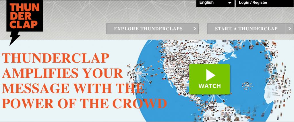 Crowdfunding thunderclap