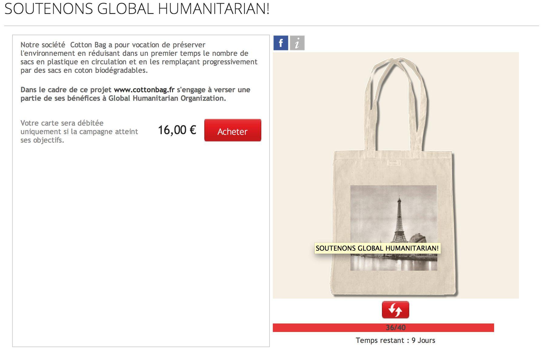 Paliott campagne Cotton Bag