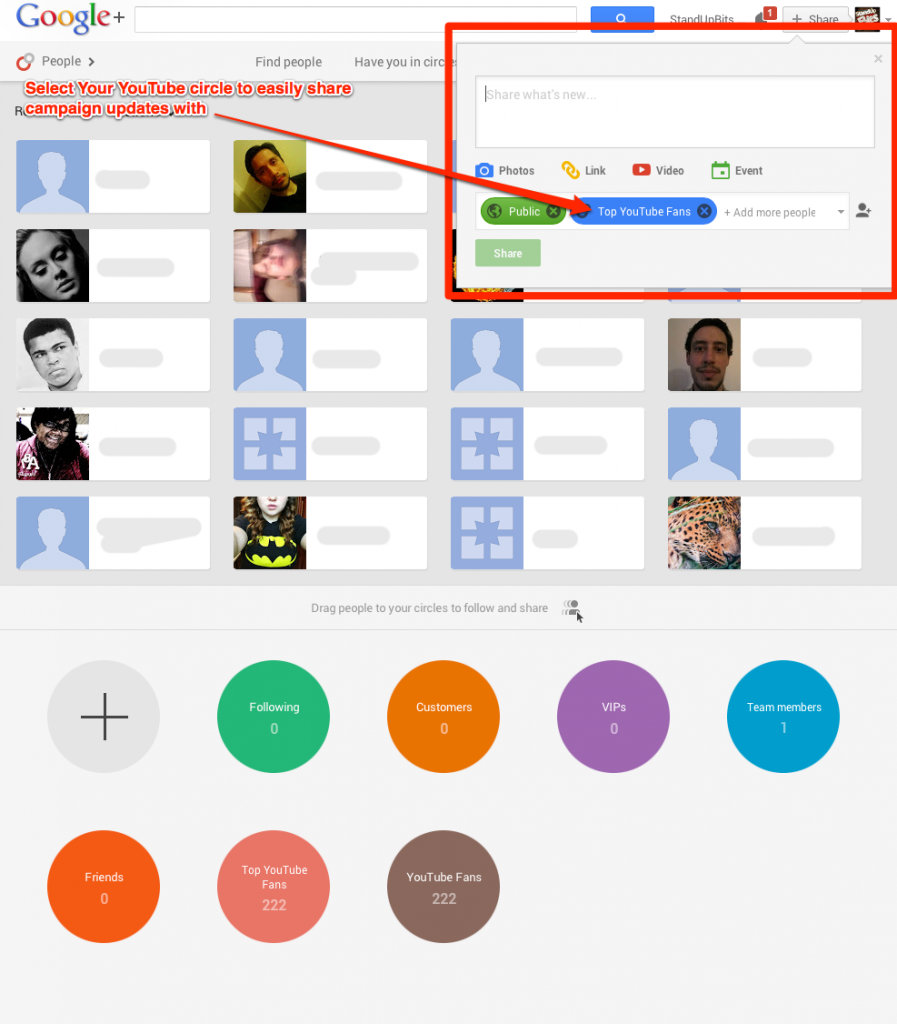 Easily Reach Your top YouTube Fans Through Your Google+ Page