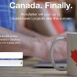 Kickstarter arrive au Canada