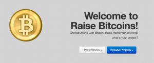 Page accueil raise bitcoins