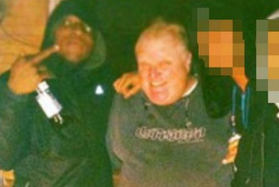 "Toronto Mayor Rob Ford is shown on the U.S. website Gawker.com in a video  that is alleged to show Ford smoking crack cocaine. Ford called the idea ""ridiculous."""