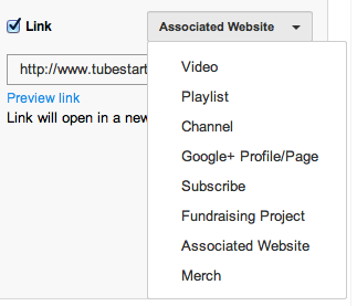 Select what type of link to create