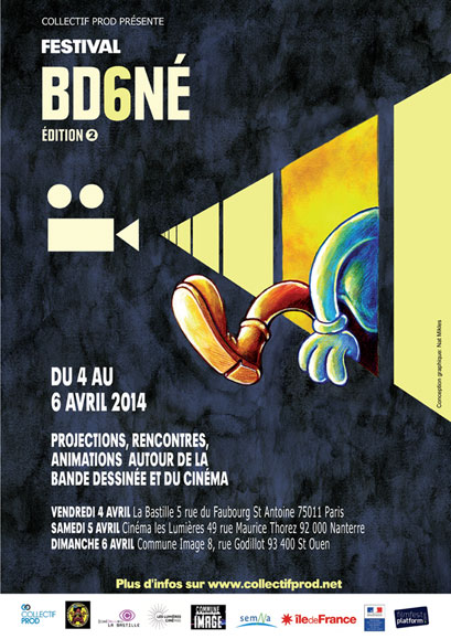 Affiche bande BD6Né crowdfunding