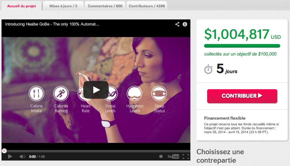 Healbe campagne frauduleuse Indiegogo