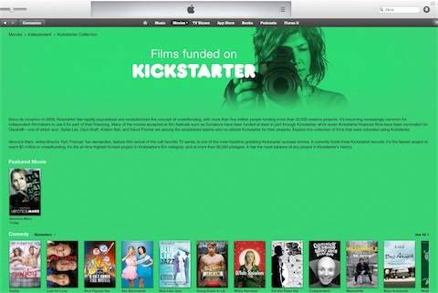 Itunes et financement participatif avec plateforme de crowdfunding Kickstarter