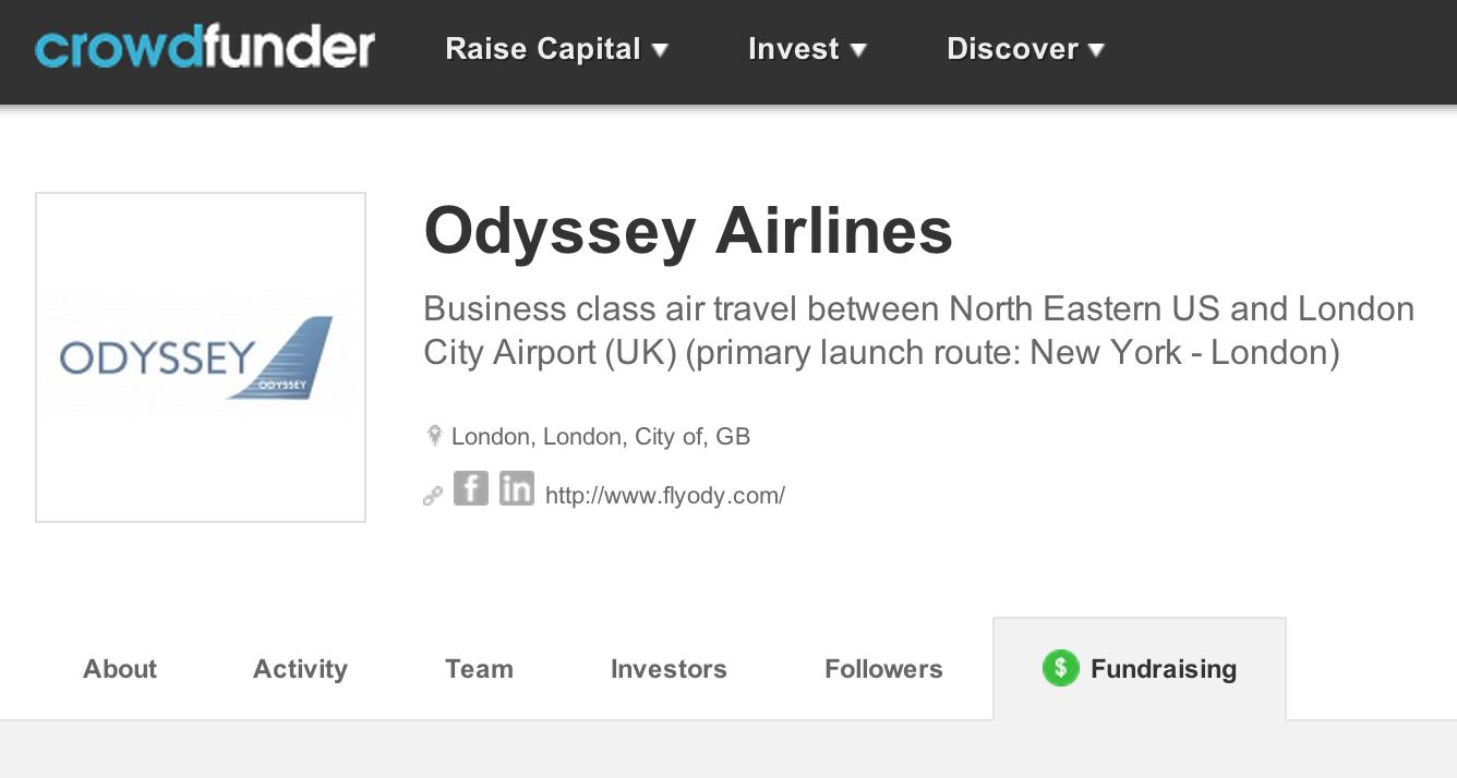 Campagne de crowdfunding appuyée par David Tait, fondateur de Virgin Atlantic et du fondateur de Dragonair, Stephen Miller