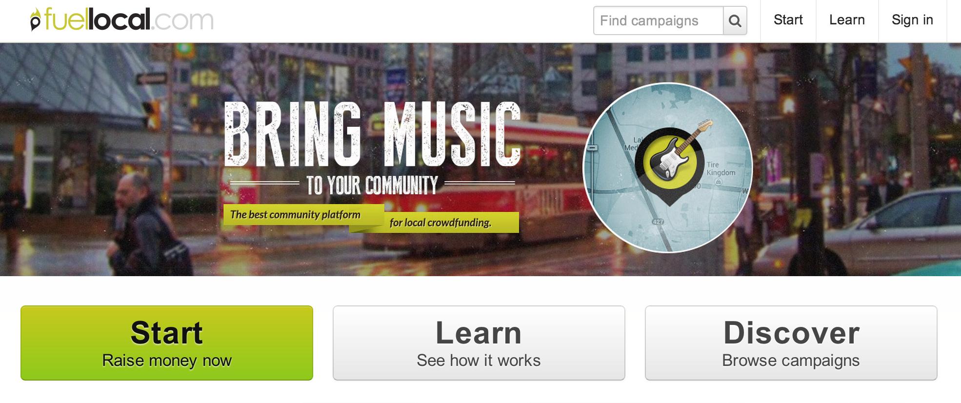Plateforme de crowdfunding pour projets locaux