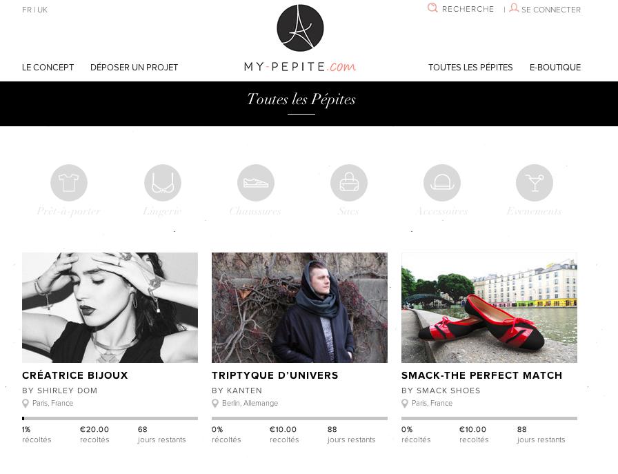 My Pepite : nouvelle plateforme de crowdfunding dédiée à l'univers de la mode