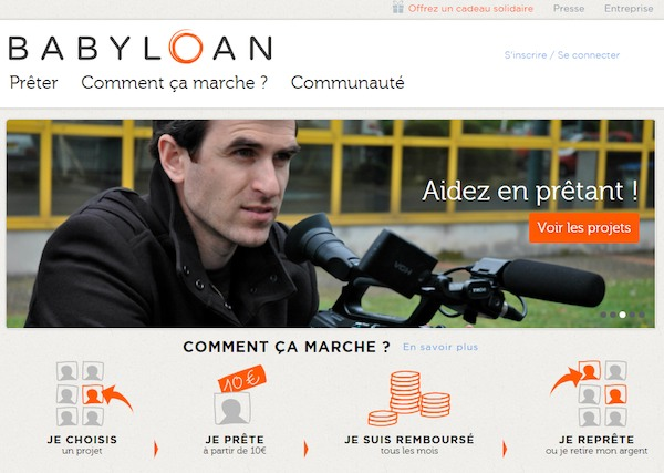 Page d'accueil Babyloan