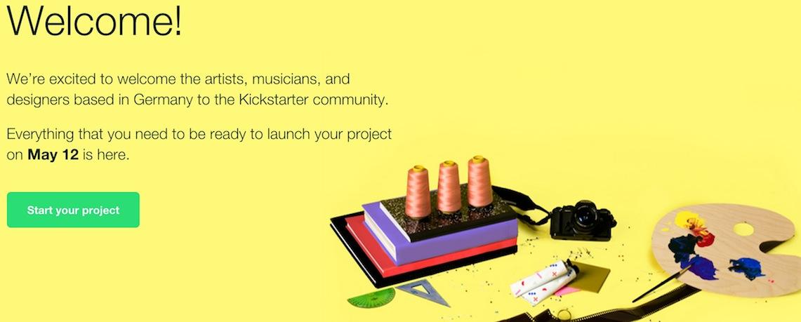 La plateforme de crowdfunding Kickstarter débarque en Allemagne