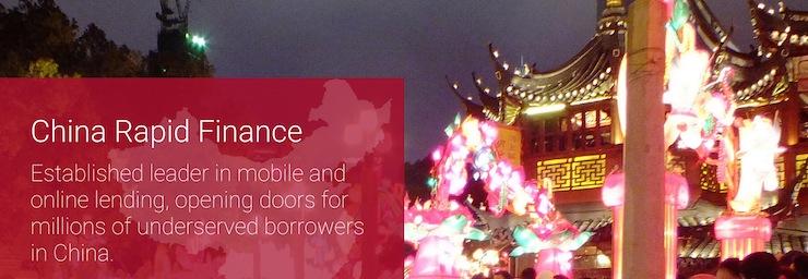 China Rapid Finance, plateforme crowdfunding