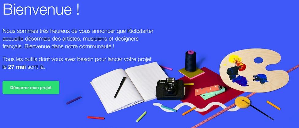 La plateforme de crowdfunding Kickstarter arrive en France