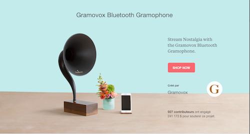 Kickstarter Gramovox project