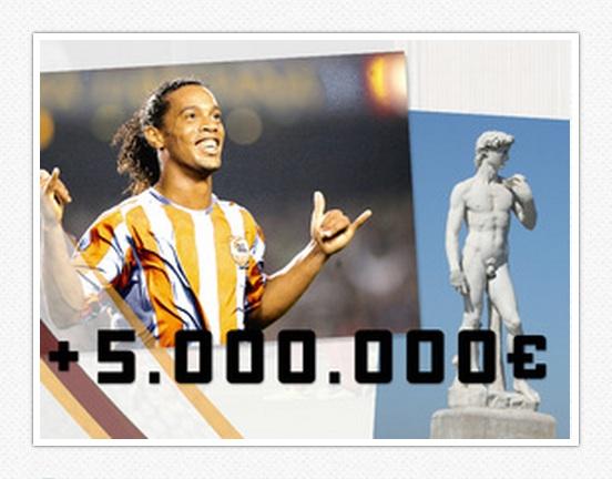 Ronaldinho et crowdfunding