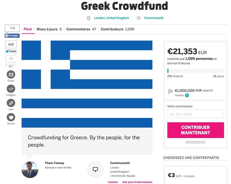 Greek Crowdfund, projet crowdfunding