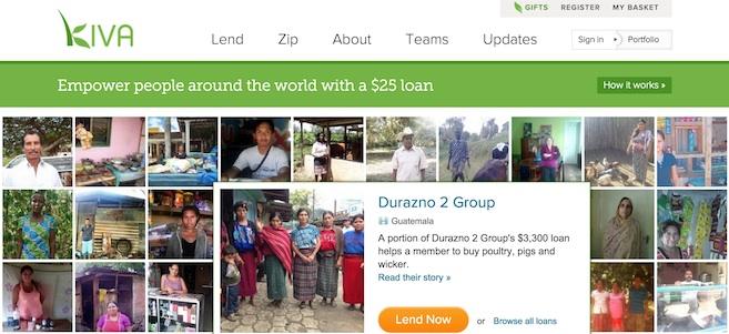 Kiva, plateforme de crowdfunding