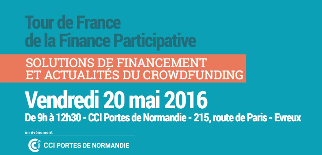 Tour de France de la finance participative evreux