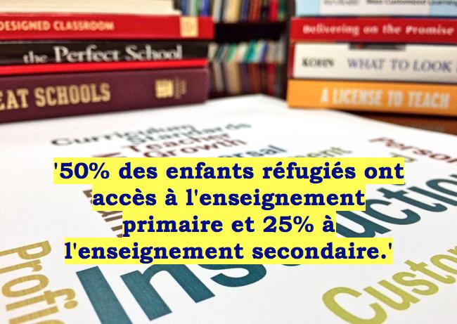 réfugiés éducation