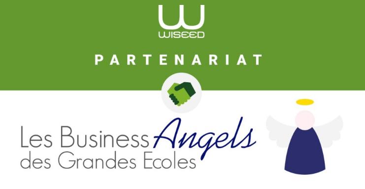 Les Business Angels des Grandes Ecoles partenariat avec wiseed