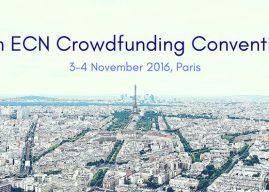 La 5ème Convention d'ECN sur le crowdfunding, aura lieu à Paris le 3 et le 4 Novembre 2016
