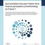 Que souhaitent les Français pour l'avenir du crowdfunding ?