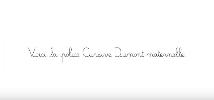 police caractère cursive