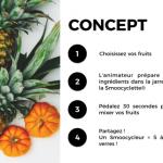 PDJ 14 juin : Smoocyclette – Le vélo-smoothie français